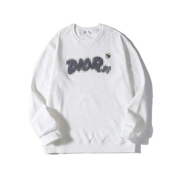 Luxury de igner brand men weat hirt weater d letter embroid bee long leeve hoodie pullover treet port ca ual fa hion hiphop b101038l, Black