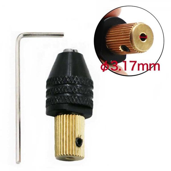 3.17mm Electric Motor Shaft Mini Chuck Fixture Clamp 0.3mm-3.5mm Drill Bit