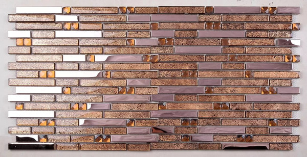 2019 Brown Gold Glass Metal Mosaic Stainless Steel Tile Backsplash SSMT403  Glass Mosaic Kitchen Wall Tiles From Sophie_charm, $14.87 | DHgate.Com