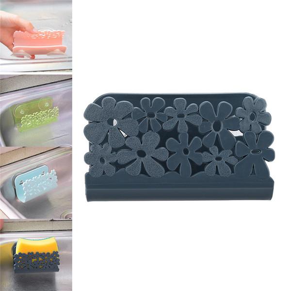 Useful Dish Cloths Rack Suction Sponge Holder Clip Rag Storage Rack For Kitchen