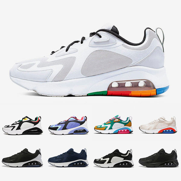 outlet store sale best authentic run shoes Compre Nike Air Max 200 Airmax Shoes Vast Grey 200 Mens Running Shoes 200s  Desert Sand Mystic Green Royal Pulse Team Gold Triple White Black Women Men  ...