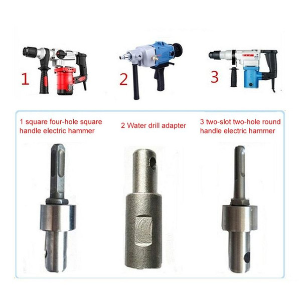 top popular Earth Auger head Bit Drill Bit SDS 4 Slots Square Auger Drill Arbor Earth Adapter SDS Arbor for Electric Hammer 2020