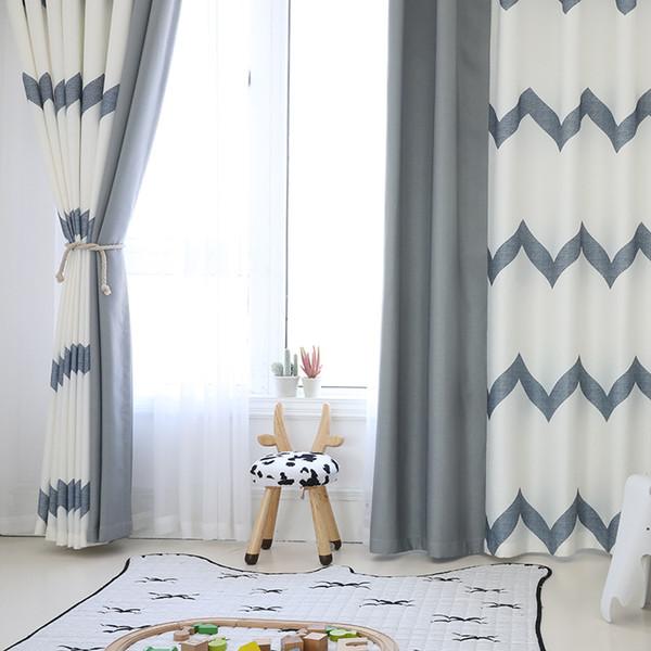 [Byetee] Moderne rayée Mosaïque Fenêtre Rideau Chambre Balcon Rideau occultant Rideaux pour le salon Cortina