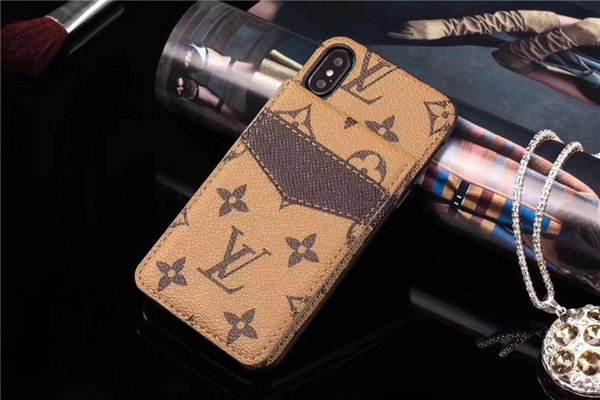 Trend Design Case for Iphone 8 Plus Case with Holder Elegant Carteira for Iphone X XR XS MAX Case Genuine Leather Side Cash Pocket Cover