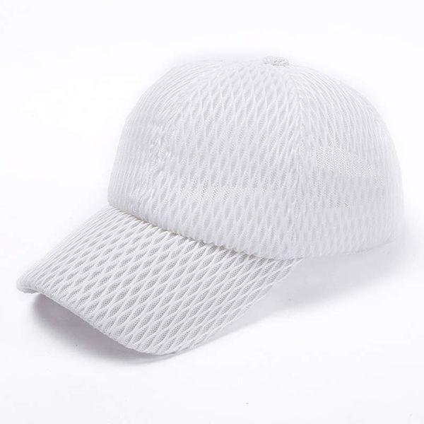 59203d697a2ebd Summer Mesh Baseball Cap Plain Messy Bun Ponytail Women Hat Breathable Blue  Pink Navy Red White Grey