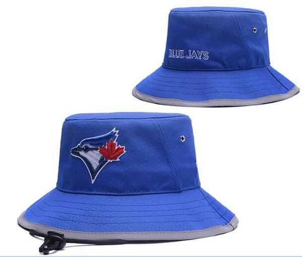 Fashion Blue Jays Bucket cap C Foldable Fishing ha Fishman Beach Sun Visor Sale Folding Man Bowler Cap For Mens Womens Good quality 00