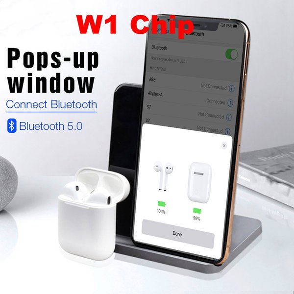 2019 w1 chip airpod with valid erial no contact me for actual picture wirele earphone touch ound quality pk air pod i10 i20 i13
