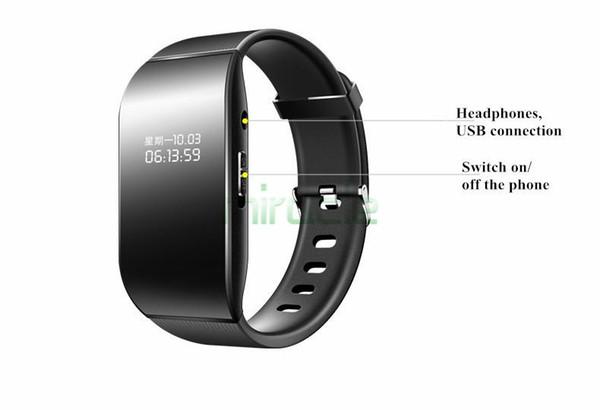 Mahdi M3 negro 8G Relojes con grabadora digital, reproductor de MP3 inteligente con mini deporte de reducción de ruido de alta definición profesional