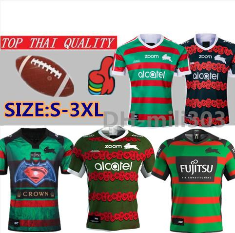 top popular 19 20 South Sydney Rabbitohs rugby jesrey 2019 2020 National Rugby League Home football shirt Australia ANZAC rugby shirts size:S-3XL 2019