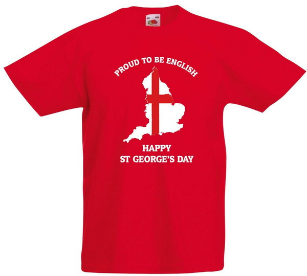Proud To Be English Happy St George/'s Day Kids T Shirt England Flag