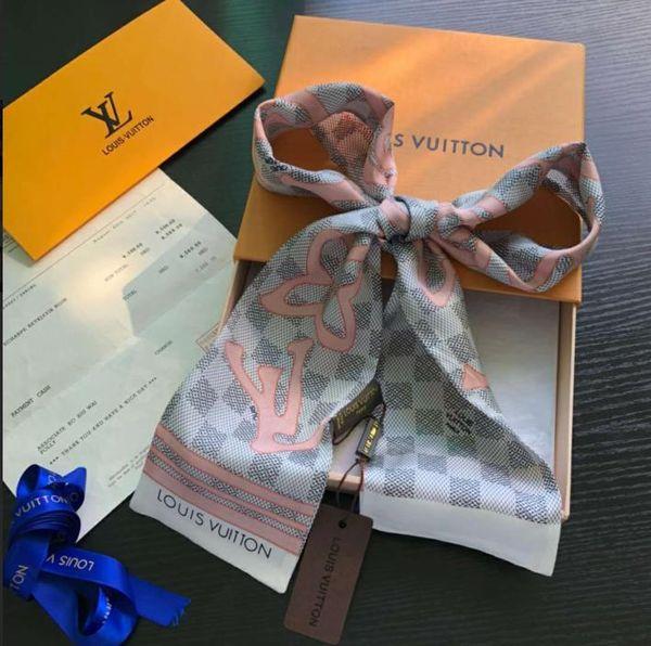 Luxury Designer Seta BORSA Borsa sciarpa Fasce Nuovo marchio donna raschietto di seta 100% Top qualità sciarpa di seta fasce per capelli P1596