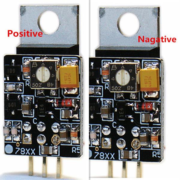 2 piezas Clase Hi End Tensión positiva de CC a CC LM78 Tensión nagativa LM 79 regulador lineal en tándem Adaptador del estabilizador de tensión de potencia de actualización