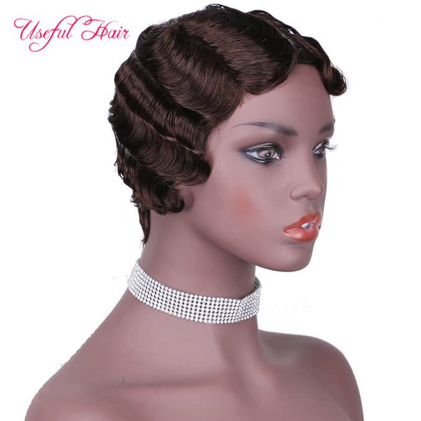 # 4 cheveux humains perruques NO.9012