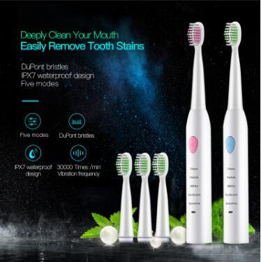 Best Quality Children electric toothbrush Rechargeable Children Electric Toothbrush Oral Hygiene Ultrasonic toothbrush kids with Replacement