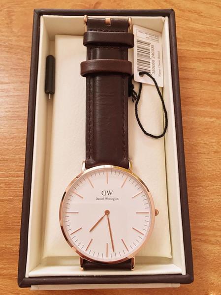 2019 новый бренд моды даниэль веллингтон 40 мм мужские часы для женщин часы DW кварцевый браслет наручные часы dz Montre Femme рождественская подарочная коробка