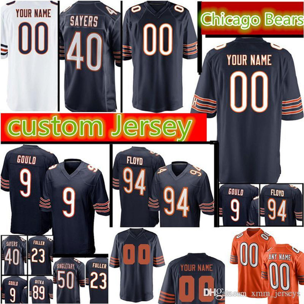 factory authentic 19b0f d5dc6 2019 Chicago Bears Custom Jersey Men'S 40 Gale Sayers 23 Kyle Fuller 9  Robbie Gould 89 Ditka 94 Floyd 75 Long 50 Mike Singletary Jerseys From ...