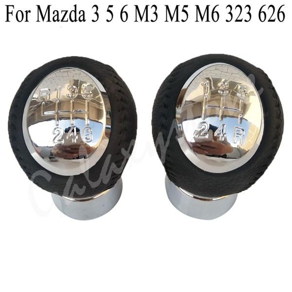Pommeau de levier de vitesse-voiture auto 5 vitesses pommeau de levier de vitesse pour Mazda 3 5 6 323 626 RX8