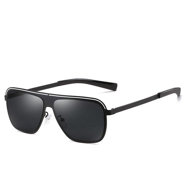 2019 New women's brand designer sunglasses ladies men's polarized sunglasses metal frame unique square sunglasses uv400 goggles glasses 2019