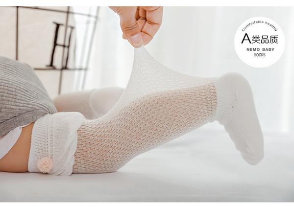 Sommer Spitze Baby Mesh Socken Neugeborenen Kleinkind Baumwolle Kniestrümpfe Baby Mädchen Jungen Lange Socken Infant Anti-Moskito Knie hohe Socke 6pairs / 12pcs