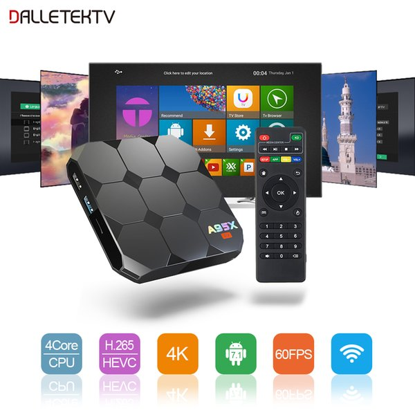 A95X R2 Android 7.1 TV Receiver 2G+16G S905W Cortex A53 Quad Core 100M LAN 2.4GHz WIFI Support Netflix Youtube Media Player