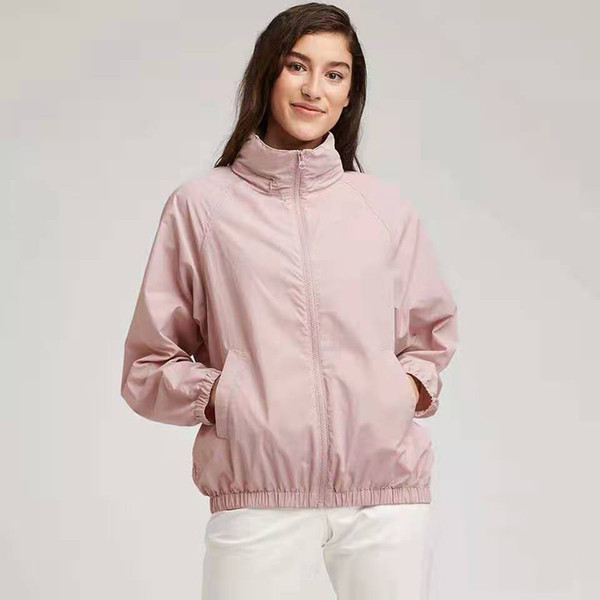 Free shipping New Jogging Suits Sport Woman Jacket Hooded Windbreaker Breathable 4 colors Sports outdoor sun protection jackets