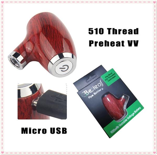 Nuovo arrivo KY32 E-Pipe Smoking USB Passthrough Vape Box Mod meccanica Starter Kit 900mAh Preriscaldamento Regolare la tensione per 510 smart carrelli di cera