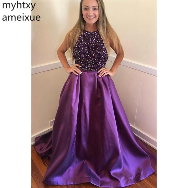 Elegant Sexy Evening Dresse 2019 A-Linie Abendkleider Bodenlang Rückenfrei Sweep Train Abendkleider Maßanfertigung Robe De Soiree