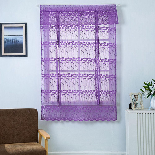 Kitchen Window Roman Short Curtain Sheer Tulle Gauze Valance Drape Home Decor hot