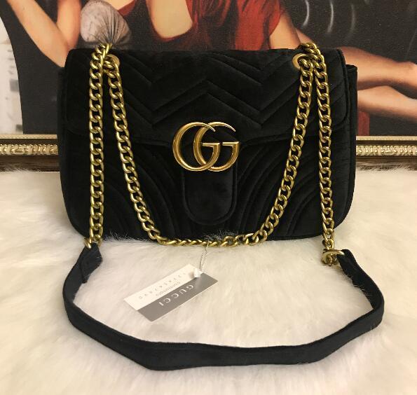 Borsa a spalla le donne di alta qualità dell'unità di elaborazione sacchetto di pelle catena di moda corpo Croce borsa a tracolla borsa delle donne femminili di colore puro