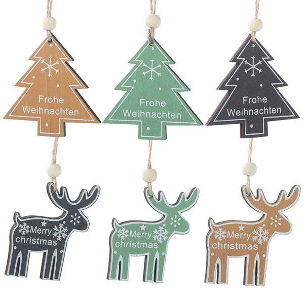 1 Stücke Weihnachtsmann Sterne Elch weihnachtsbaum Holz Anhänger Hängen Ornamente Geschenke Weihnachten Neujahr Decor Home Party Dekoration 62688