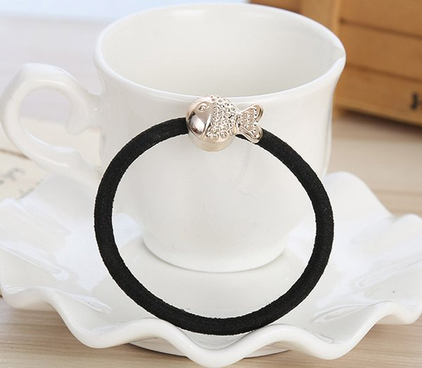 Best Sellers Golden Bead Hair Ring, New Jewelry Simple Hair Rope, Tie Hair Leather Band, Jewelry Wholesale