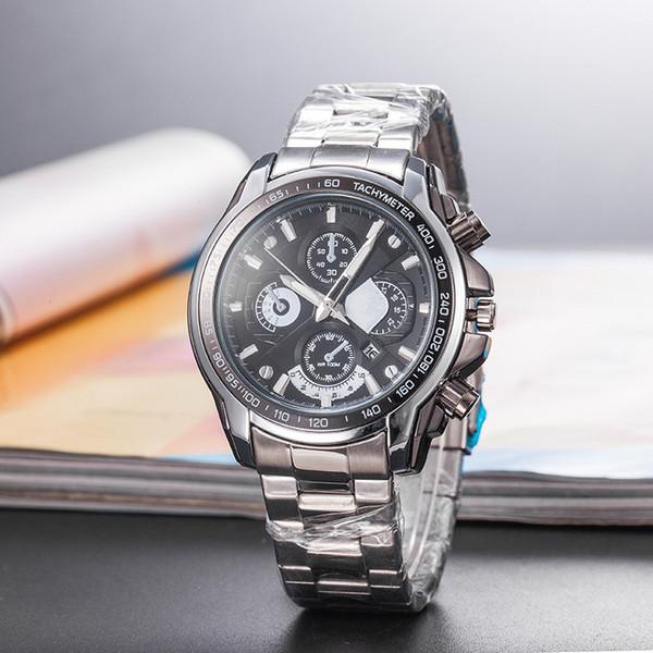2019 de alta qualidade New ca sio marca de luxo moda homem relógio cinto de aço de quartzo relógio lazer clássico relógio de pulso com função de calendário