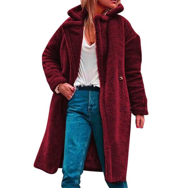 Fluffy Longue Manteau En Fausse Fourrure Femmes Épaissir Hiver fausse fourrure streetwear Manteau Noir De La Mode Féminine Streetwear Cardigan Survêtement