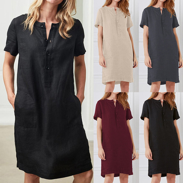 Amazon wish, a fast-selling cross-border explosive company in Europe and America, sells cotton and hemp loose short-sleeved long-and-medium-