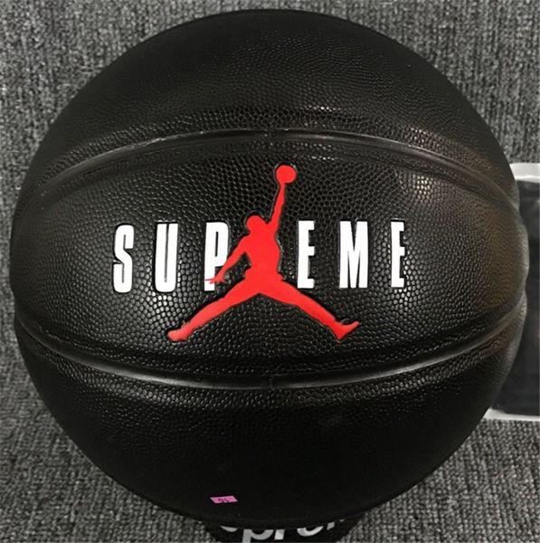 Clone Preto Basketball edição limitada NO.7 Fancy street Desgaste-resistente de couro bola de basquete para Sdudent baixo preço
