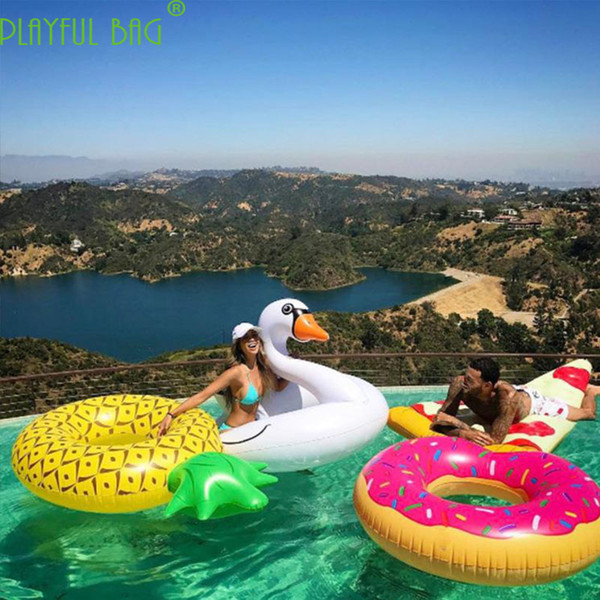 top popular Inflatable Pineapple swimming pool large party Swimming Ring Floating Bed Adult woman Floating bed Inflatable Toys 2019