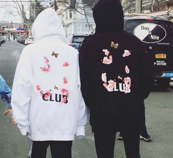 Designer mens hoodies hip hop cherry blossom hooded loose casual high quality cotton men and women Sweatshirts