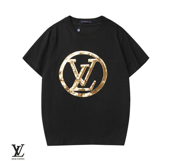 Best Sellers mens designer t shirts Summer Embroidered gold sequins letters Classic Fashion t-shirt designer men and women luxury shirt