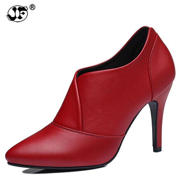 2018 Fashion Women Boots Woman Ankle Boots High Heels Pumps Shoes Woman Autumn Winter Botas Femininas Botines Mujer jk9o