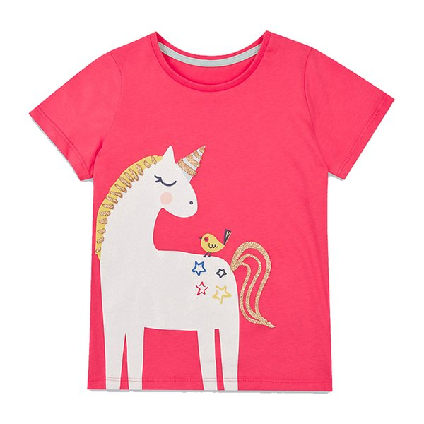 Baby Girls T-shirt Kids Clothes 2019 Brand Children Cartoon T shirts for Girls Costumes Unicorn Summer Girls Tops & Tees