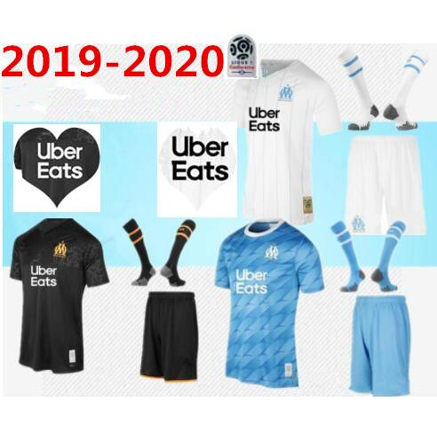 2019 2020 Olympique de Marseille PAYET Trikot für Erwachsene Komplettset 19 20 OM Marseille PAYET L.GUSTAVO THAUVIN MEN Trikot KIT + Socken