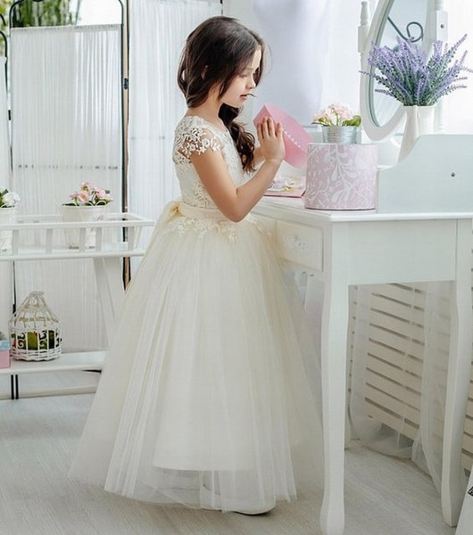 New Charming Special Occasion Dress Pincess Pageant Flower Girl Dresses Wedding Party Dress Kids Prom Gown Children Dress DHA20