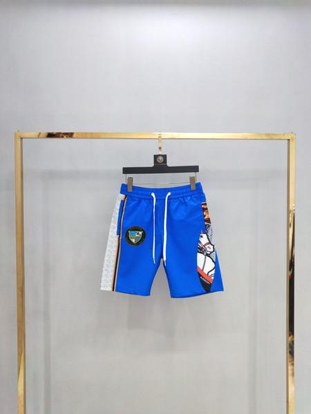 Robin Short Beach Pants Мужская мода 2019 Известный бренд Summer Designer Мужские настоящие шорты Горячие брюки Ручные модные шорты 0178