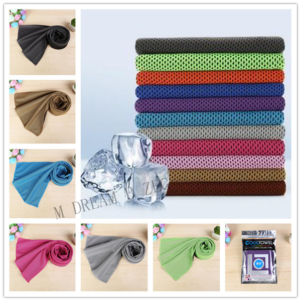 best selling Large Size Ice Cold Towel 30*90CM Cool Ice Towel Summer Sunstroke Sports Exercise Cool Quick Dry Soft Breathable Cooling Towel Sport Supply