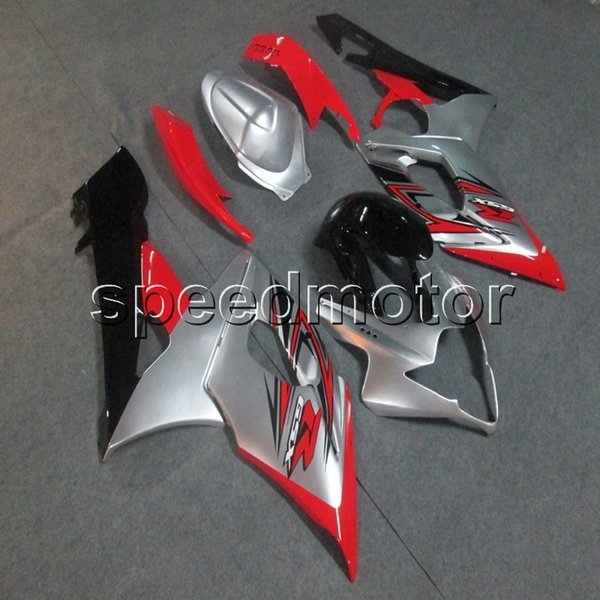 Screws+Gifts Injection mold red silver motorcycle cowl Fairing for Suzuki GSX-R 1000 05 06 GSXR1000 2005 2006 K5 ABS plastic kit