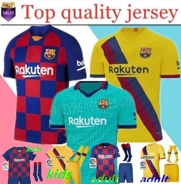 19 20 maglie da calcio Barcelona 10 Messi # 17 GRIEZMANN SUAREZ camisa de futebol Dembele A. INIESTA UMTITI 2019 2020 maglia da calcio da uomo