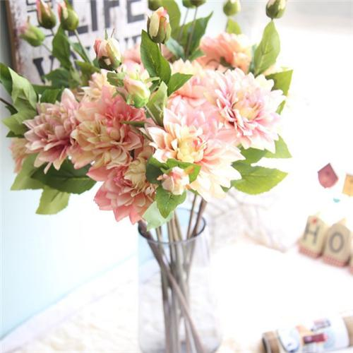Swell 2019 Dahlia Flowers Colorful Artificial Decorative Flowers Cozy Living Room Bedroom Kitchen Decorative Fake Flowers Gifts For Friends From Flower Sea Home Remodeling Inspirations Cosmcuboardxyz