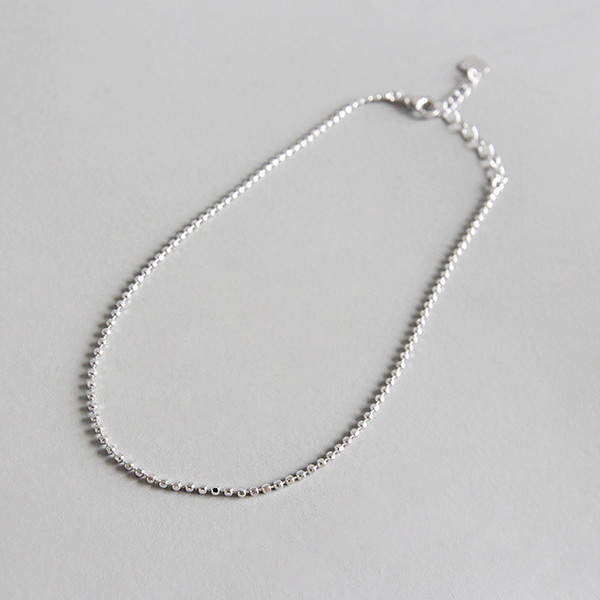 1.4MM SO THIN SLIM Authentic 925 Sterling silver Round lucky ball chain Anklet Bracelet Adjust fine Jewelry TLS129