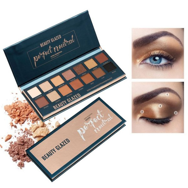 14 Colors Beauty Glazed Brand Eye Makeup Shimmer Eyeshadow Palette Long Lasting Matte Pigmented Eye Shadow Palette Make Up Sets