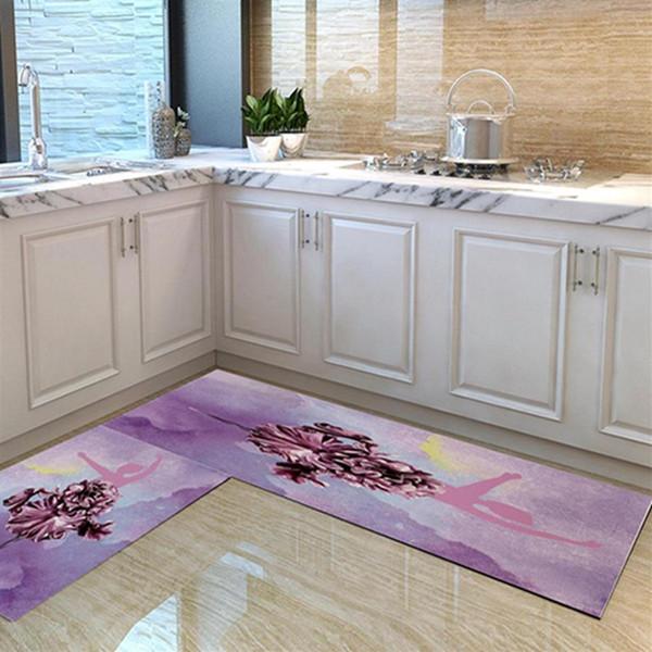 2019 Fresco Impresso Tapete Do Vento Entrada Do Banheiro À Prova D 'Água Tapete Não-deslizamento 40 * 60 cm Tapetes De Chão Para O Quarto Sala de Cozinha Almofada À Prova De Óleo